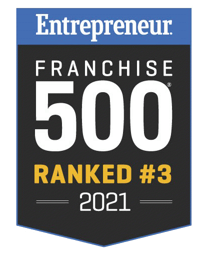 Entrepreneur Magazine Franchise 500 Ranked #3 badge