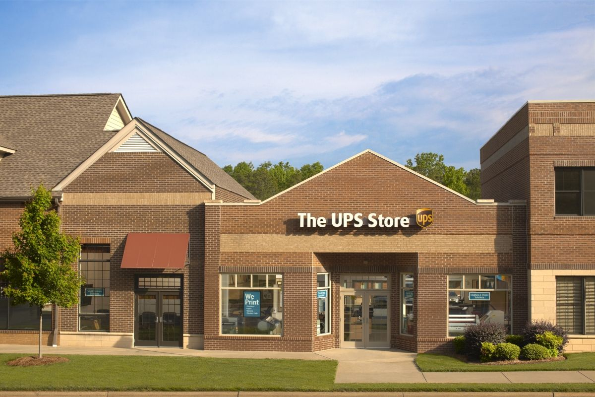 Exterior of a The UPS Store location