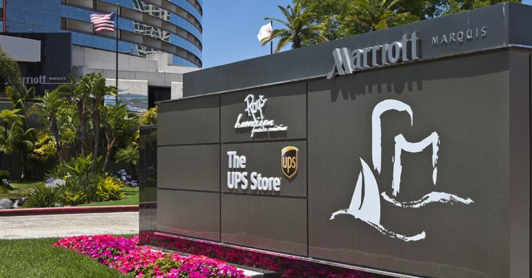 The UPS Store center at a hotel