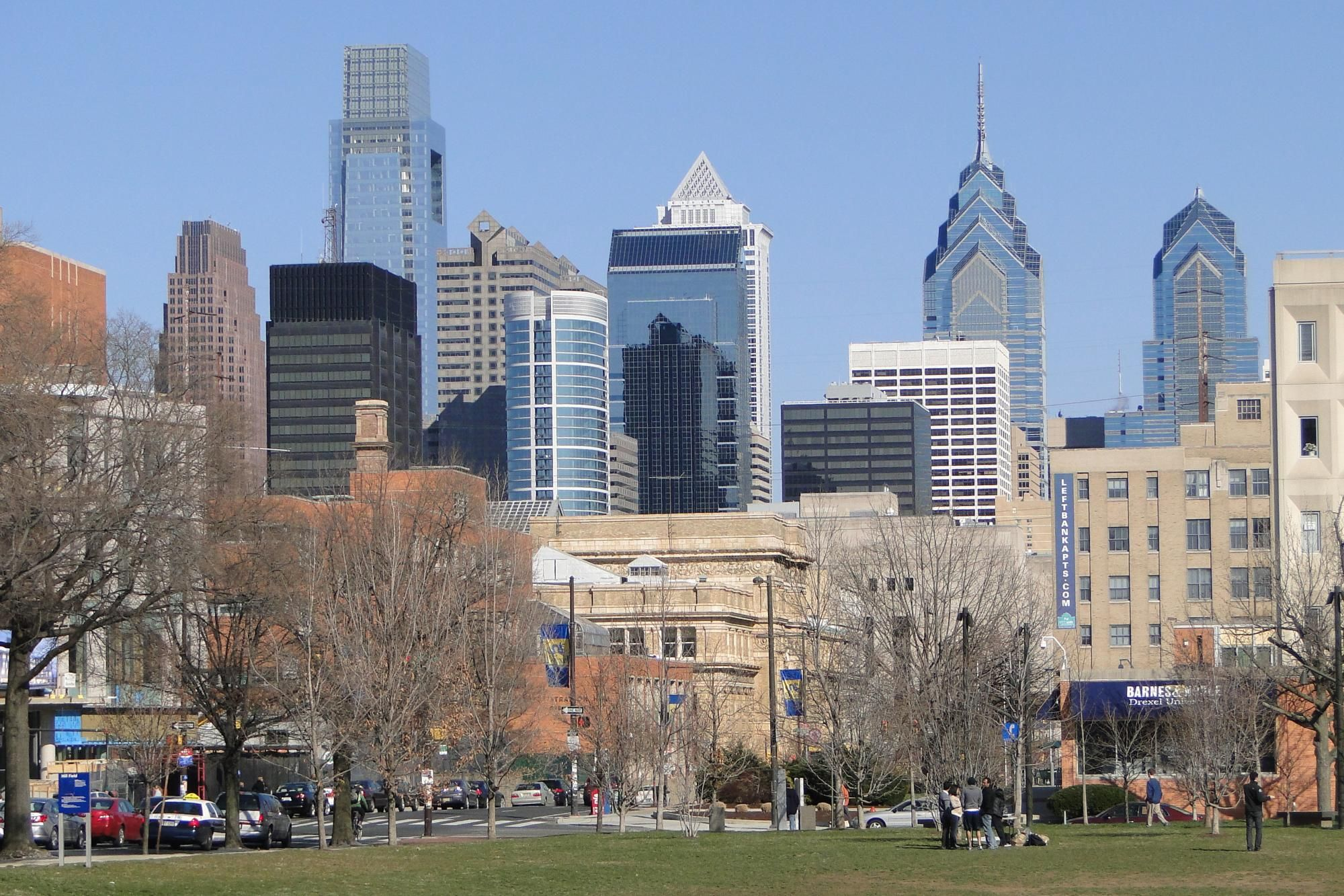 view of philly skyline